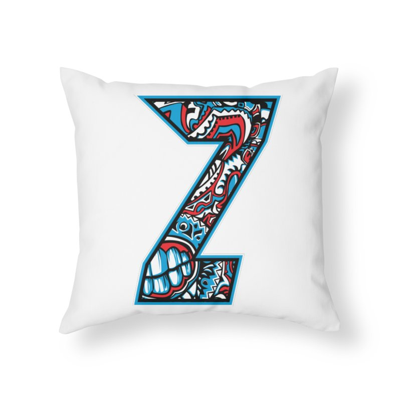 Crazy Face Alphabet (Z) Home Throw Pillow by Yaky's Customs