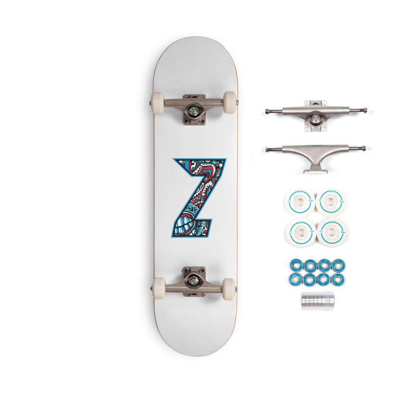 Crazy Face Alphabet (Z) Accessories Skateboard by Yaky's Customs