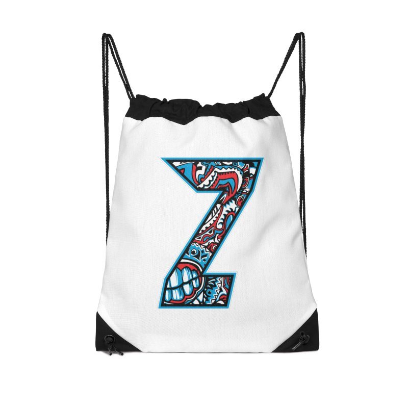 Crazy Face_Z001 Accessories Drawstring Bag Bag by Art of Yaky Artist Shop