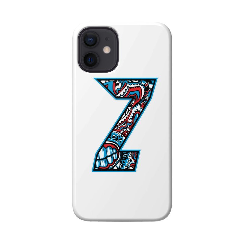 Crazy Face Alphabet (Z) Accessories Phone Case by Yaky's Customs