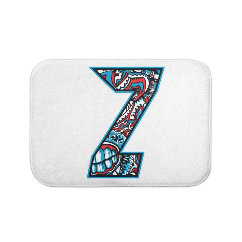 Crazy Face Alphabet (Z) Home Bath Mat by Yaky's Customs