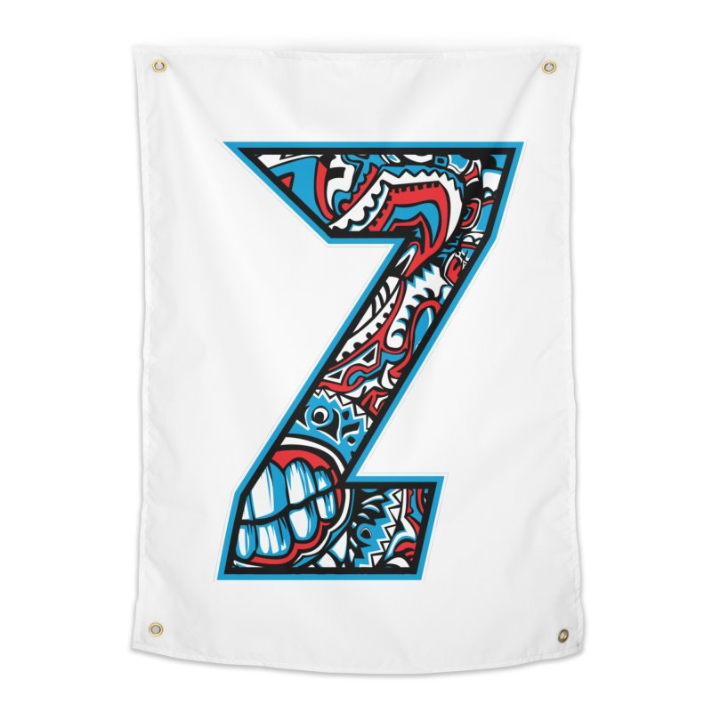 Crazy Face Alphabet (Z) Home Tapestry by Yaky's Customs
