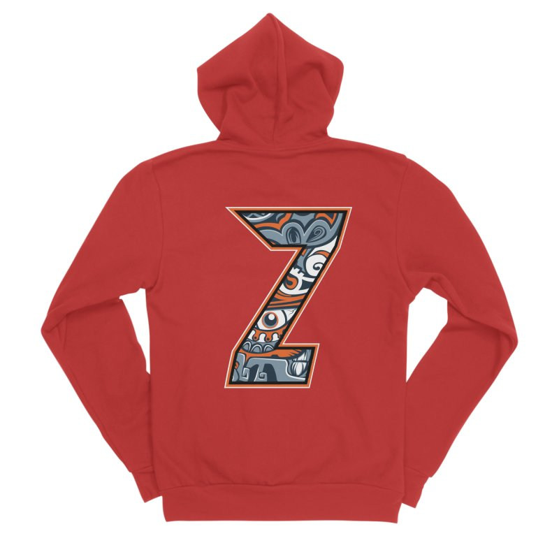 Crazy Face_Z002 Men's Zip-Up Hoody by Art of Yaky Artist Shop
