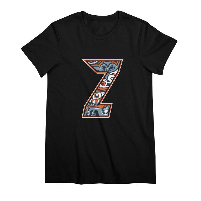 Crazy Face_Z002 Women's Premium T-Shirt by Art of Yaky Artist Shop