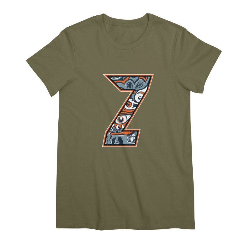 Crazy Face_Z002 Women's Premium T-Shirt by Art of Yaky Artist Shop