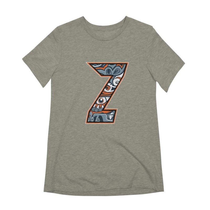 Crazy Face_Z002 Women's T-Shirt by Art of Yaky Artist Shop
