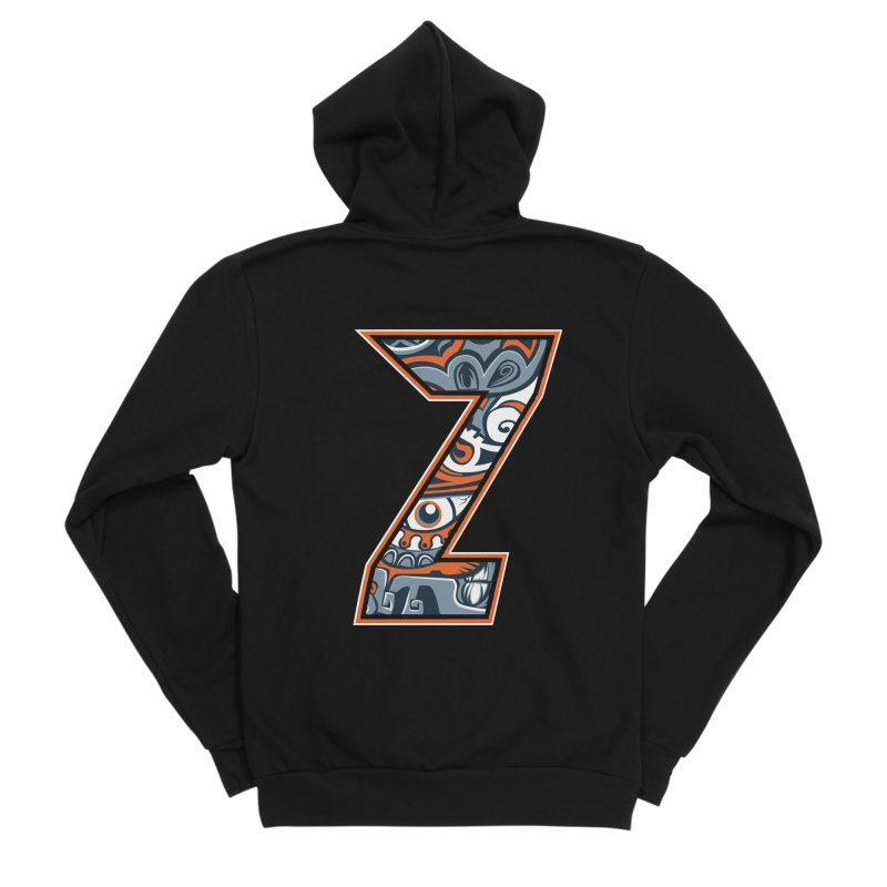 Crazy Face_Z002 Women's Sponge Fleece Zip-Up Hoody by Art of Yaky Artist Shop
