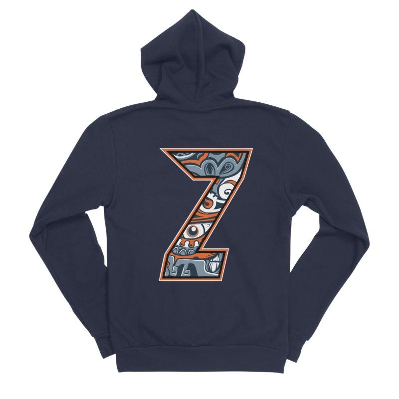 Crazy Face_Z002 Men's Sponge Fleece Zip-Up Hoody by Art of Yaky Artist Shop