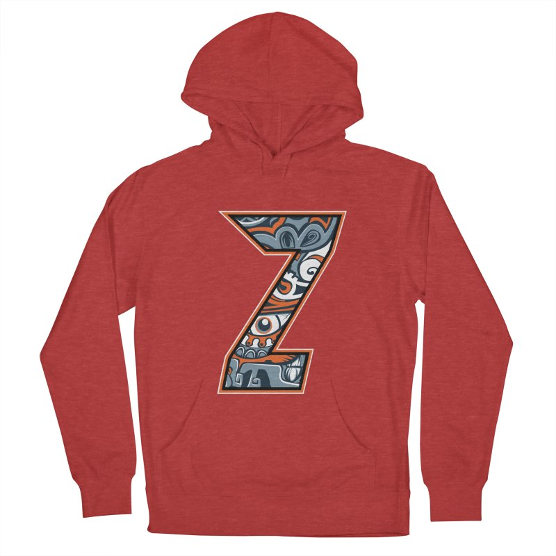 Crazy Face_Z002 Women's French Terry Pullover Hoody by Art of Yaky Artist Shop