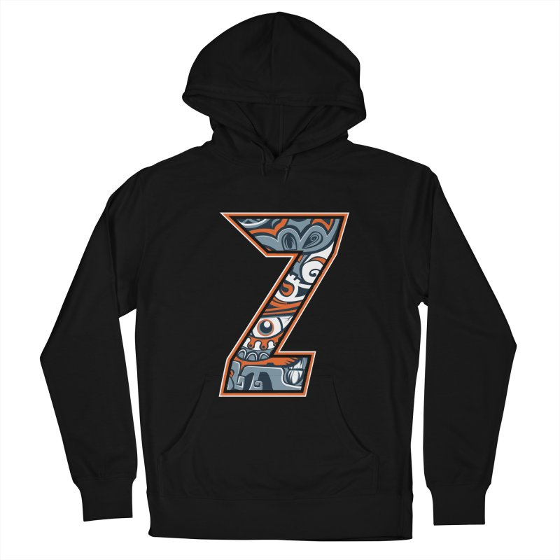 Crazy Face_Z002 Men's French Terry Pullover Hoody by Art of Yaky Artist Shop