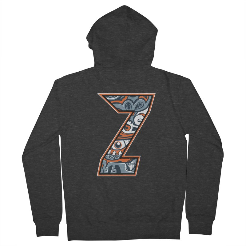 Crazy Face_Z002 Women's French Terry Zip-Up Hoody by Art of Yaky Artist Shop