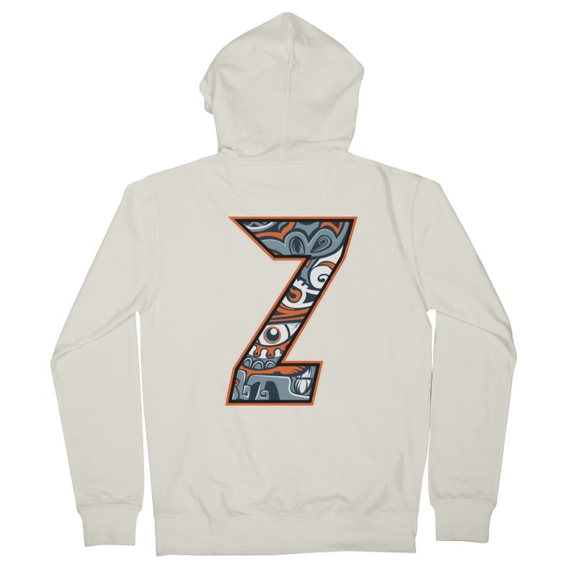 Crazy Face_Z002 Men's French Terry Zip-Up Hoody by Art of Yaky Artist Shop