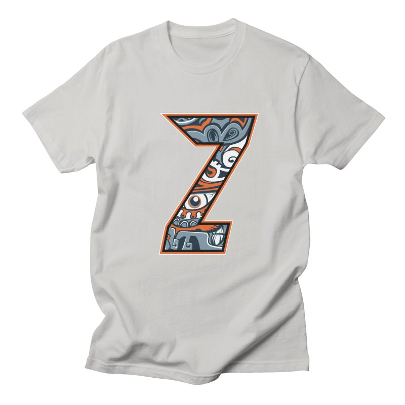 Crazy Face Alphabet (Z) Men's T-Shirt by Yaky's Customs