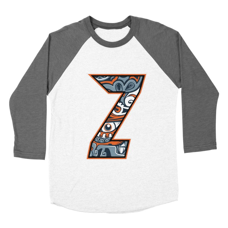 Crazy Face_Z002 Women's Baseball Triblend Longsleeve T-Shirt by Art of Yaky Artist Shop