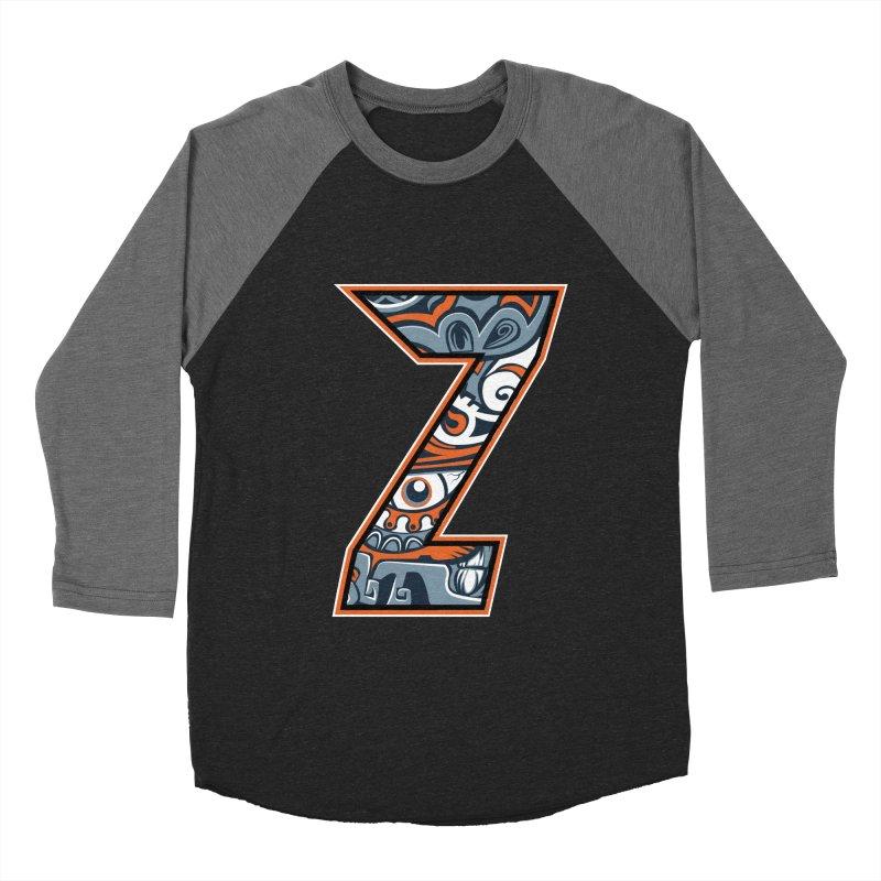 Crazy Face_Z002 Men's Baseball Triblend Longsleeve T-Shirt by Art of Yaky Artist Shop