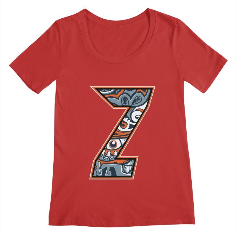 Crazy Face_Z002 Women's Regular Scoop Neck by Art of Yaky Artist Shop