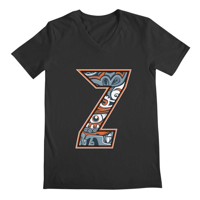 Crazy Face_Z002 Men's Regular V-Neck by Art of Yaky Artist Shop