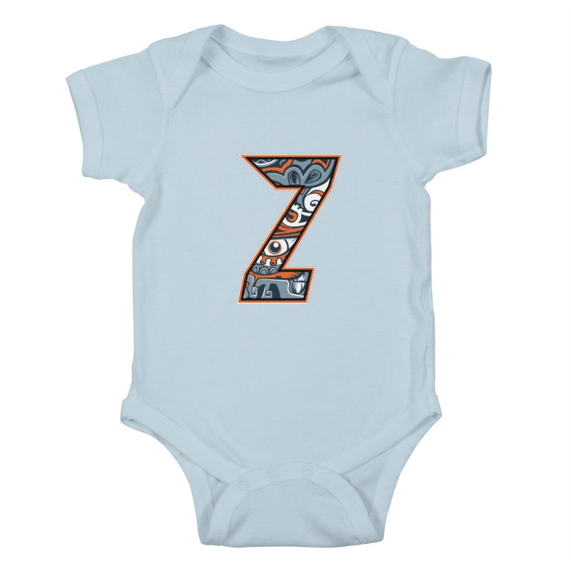 Crazy Face Alphabet (Z) Kids Baby Bodysuit by Yaky's Customs
