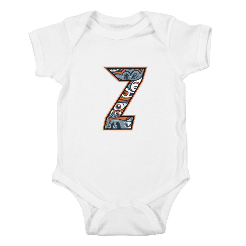 Crazy Face_Z002 Kids Baby Bodysuit by Art of Yaky Artist Shop