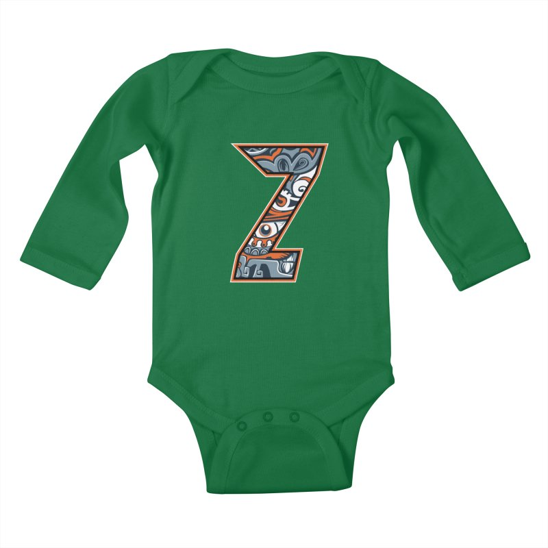 Crazy Face_Z002 Kids Baby Longsleeve Bodysuit by Art of Yaky Artist Shop