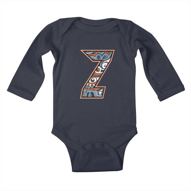 Crazy Face_Z002 Kids Baby Longsleeve Bodysuit by Art of Yaky Artist Shop