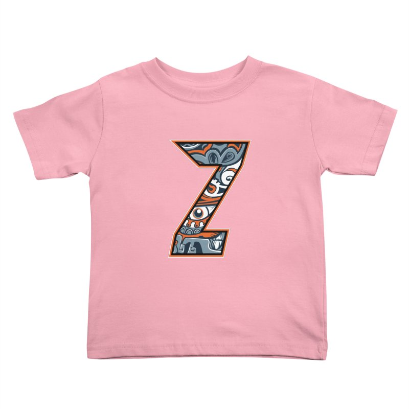 Crazy Face_Z002 Kids Toddler T-Shirt by Art of Yaky Artist Shop