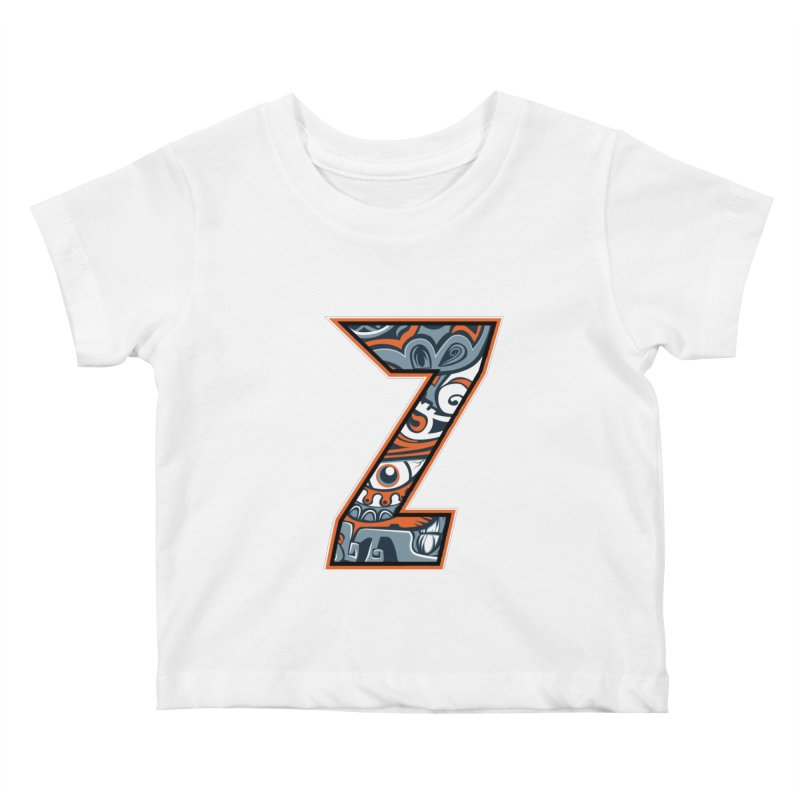 Crazy Face_Z002 Kids Baby T-Shirt by Art of Yaky Artist Shop