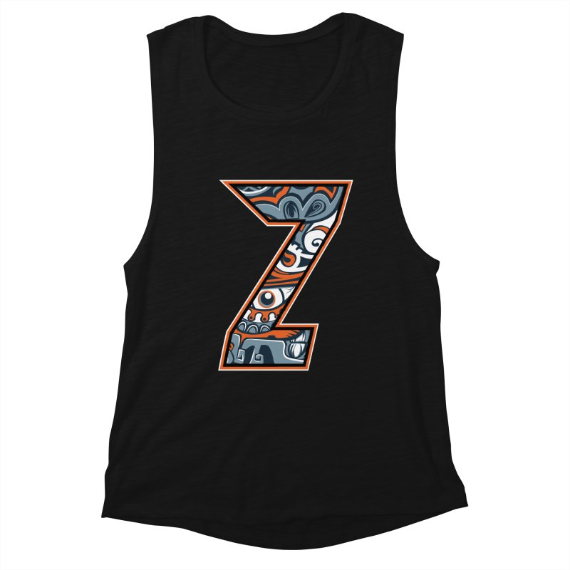 Crazy Face_Z002 Women's Muscle Tank by Art of Yaky Artist Shop