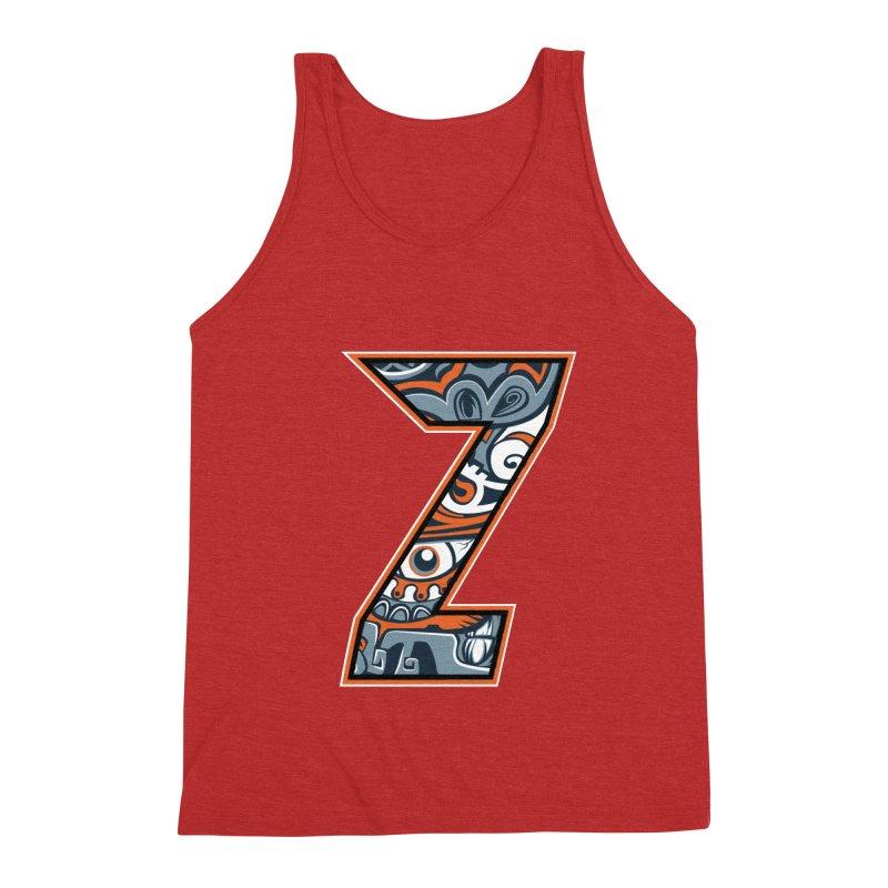 Crazy Face_Z002 Men's Triblend Tank by Art of Yaky Artist Shop