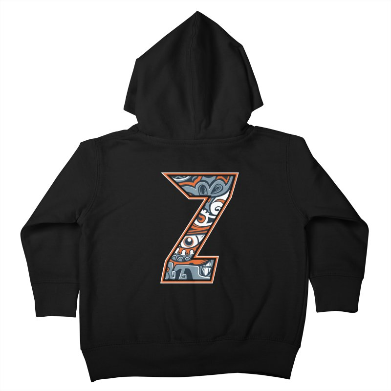 Crazy Face_Z002 Kids Toddler Zip-Up Hoody by Art of Yaky Artist Shop