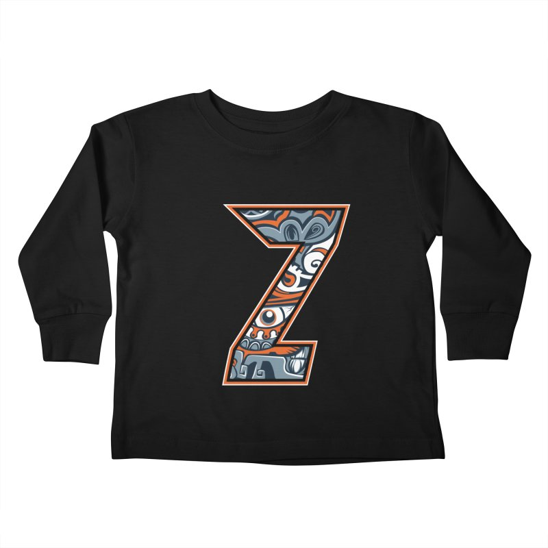 Crazy Face_Z002 Kids Toddler Longsleeve T-Shirt by Art of Yaky Artist Shop