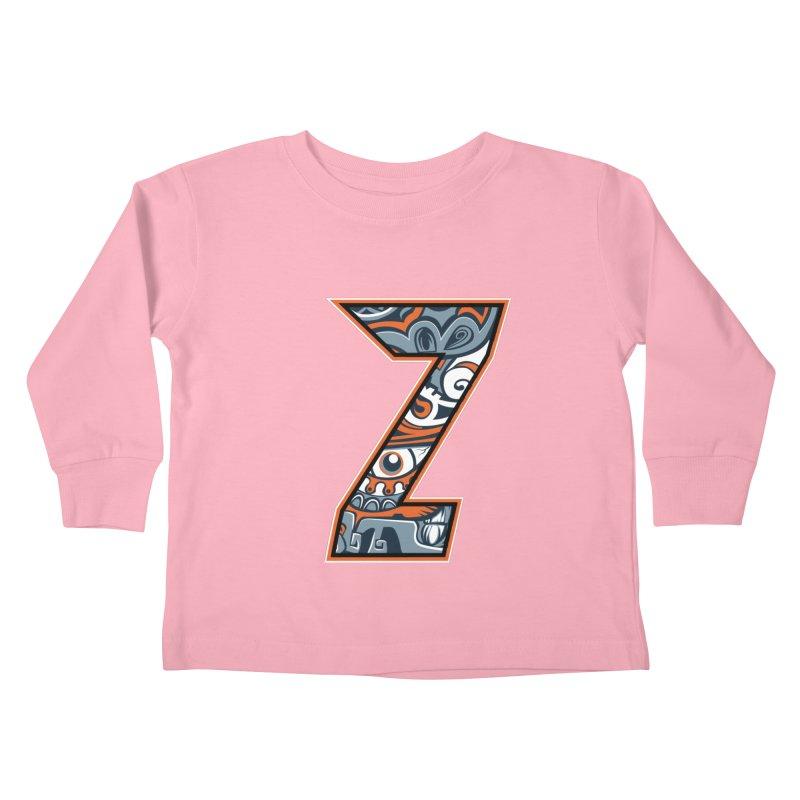 Crazy Face_Z002 Kids Toddler Longsleeve T-Shirt by Art of Yaky Artist Shop