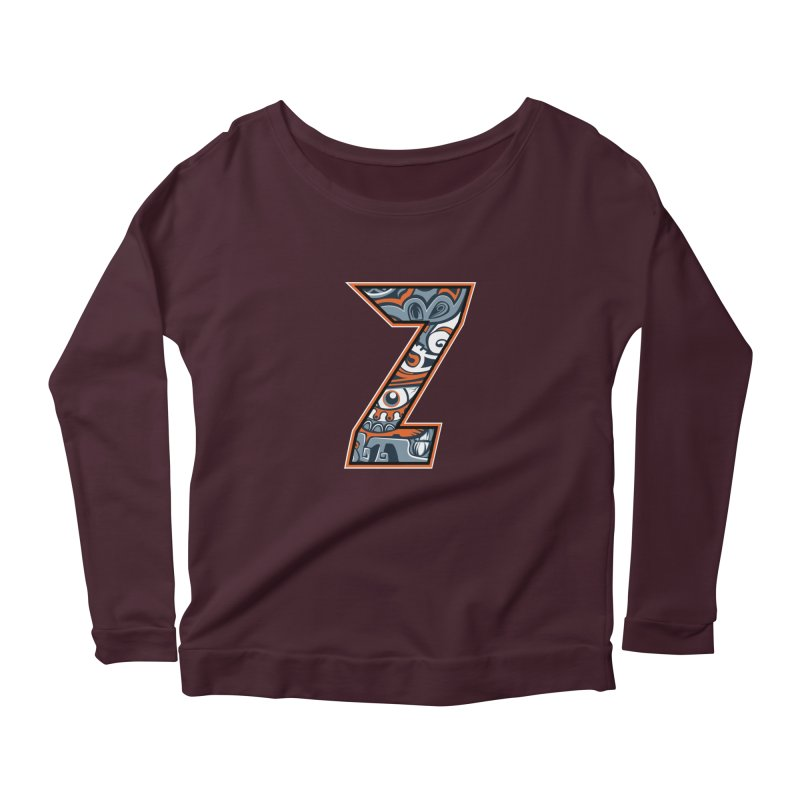 Crazy Face_Z002 Women's Longsleeve T-Shirt by Art of Yaky Artist Shop