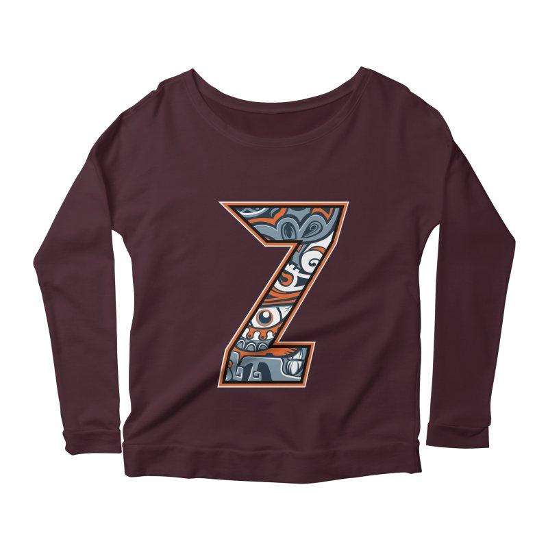 Crazy Face_Z002 Women's Scoop Neck Longsleeve T-Shirt by Art of Yaky Artist Shop