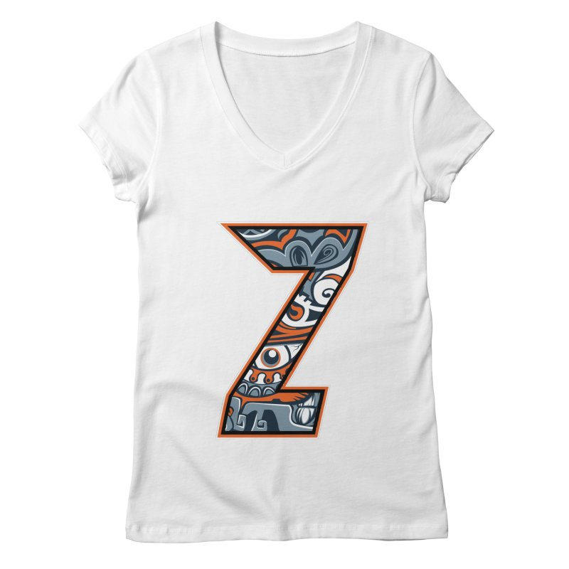 Crazy Face_Z002 Women's Regular V-Neck by Art of Yaky Artist Shop