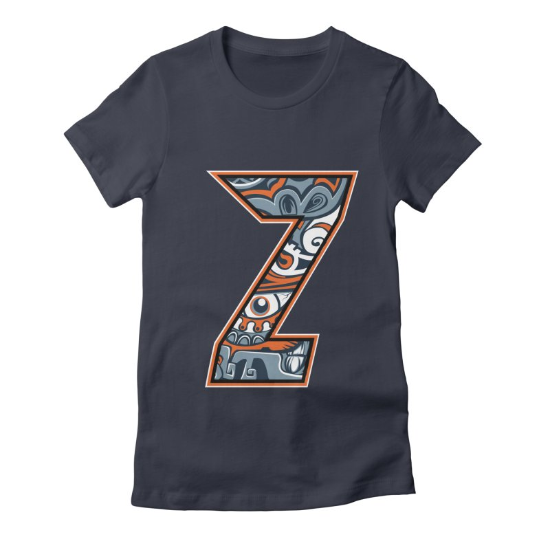 Crazy Face_Z002 Women's Fitted T-Shirt by Art of Yaky Artist Shop