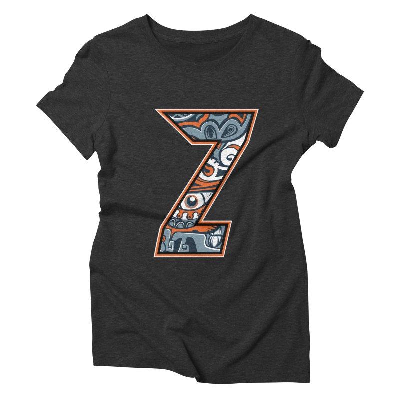 Crazy Face_Z002 Women's Triblend T-Shirt by Art of Yaky Artist Shop