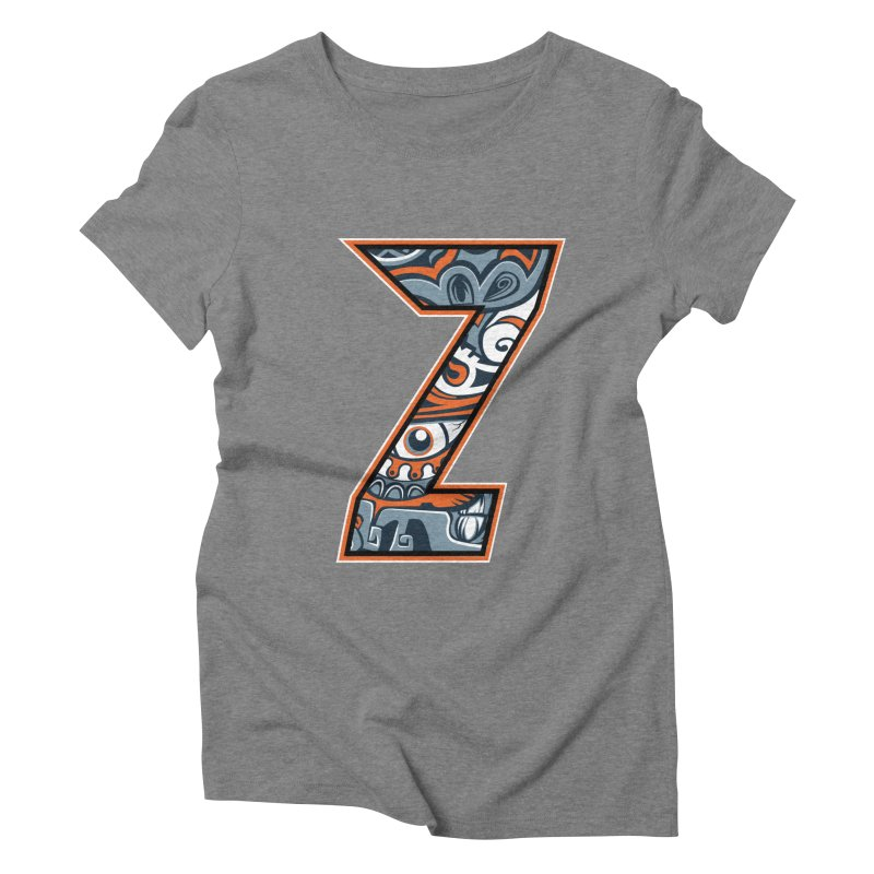 Crazy Face_Z002 Women's Triblend T-Shirt by Art of Yaky Artist Shop