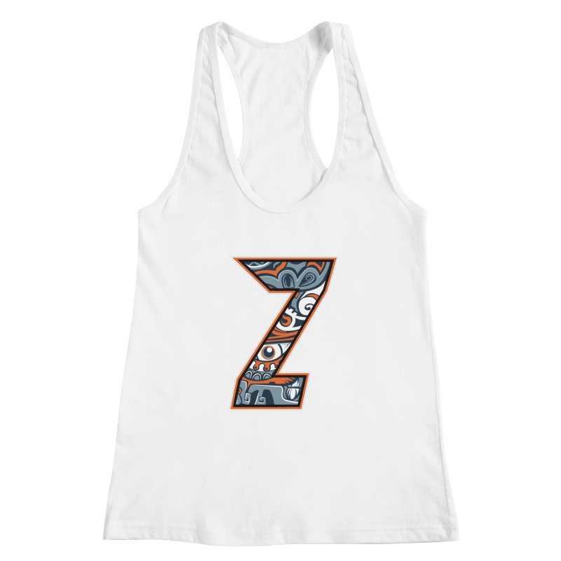Crazy Face_Z002 Women's Racerback Tank by Art of Yaky Artist Shop