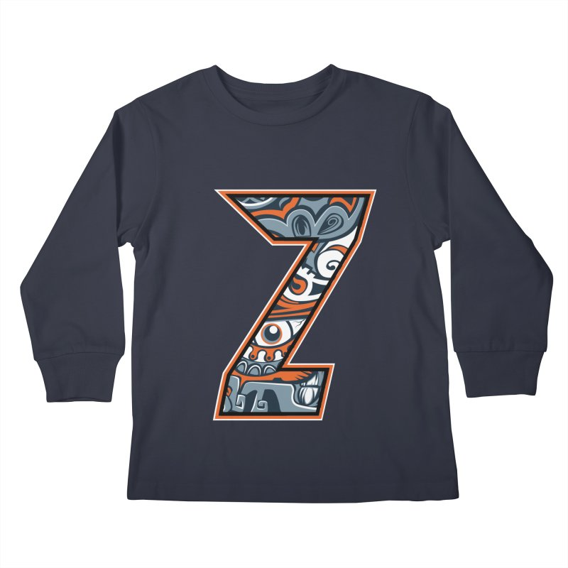 Crazy Face_Z002 Kids Longsleeve T-Shirt by Art of Yaky Artist Shop