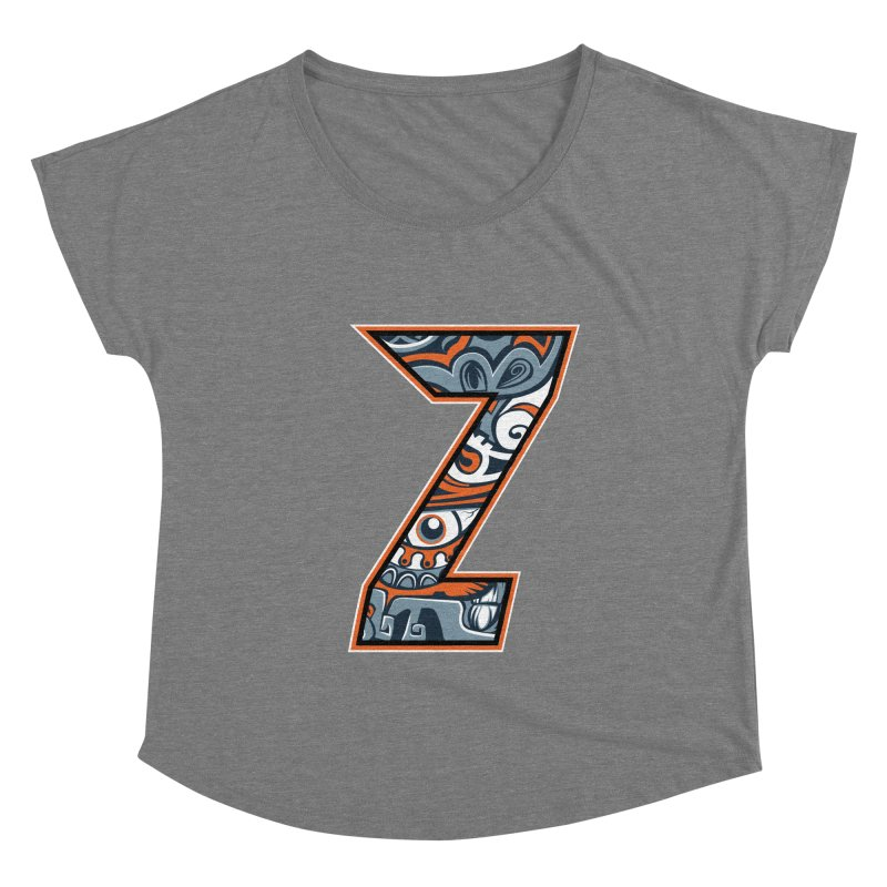Crazy Face Alphabet (Z) Women's Scoop Neck by Yaky's Customs