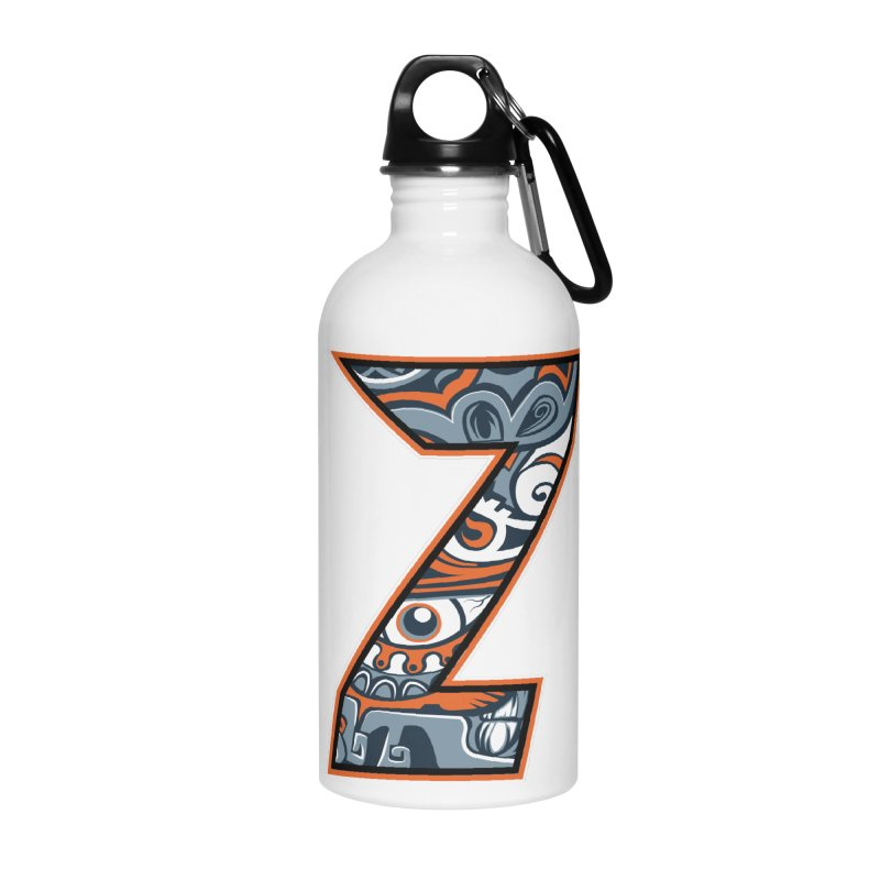 Crazy Face_Z002 Accessories Water Bottle by Art of Yaky Artist Shop