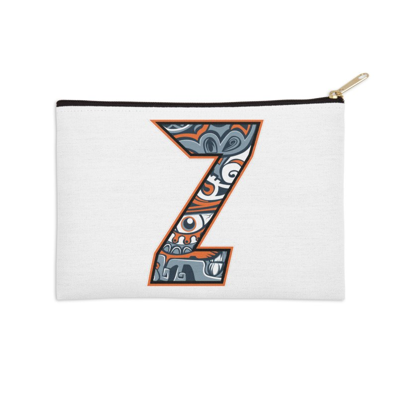 Crazy Face_Z002 Accessories Zip Pouch by Art of Yaky Artist Shop