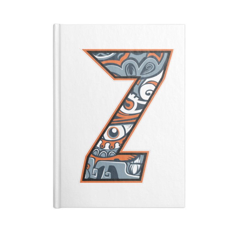 Crazy Face_Z002 Accessories Lined Journal Notebook by Art of Yaky Artist Shop