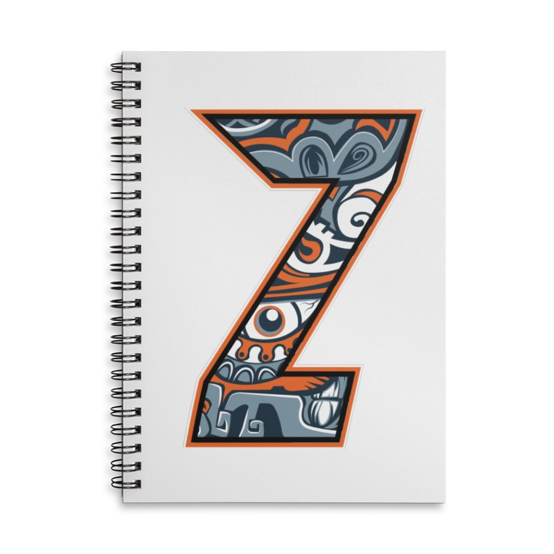 Crazy Face_Z002 Accessories Lined Spiral Notebook by Art of Yaky Artist Shop