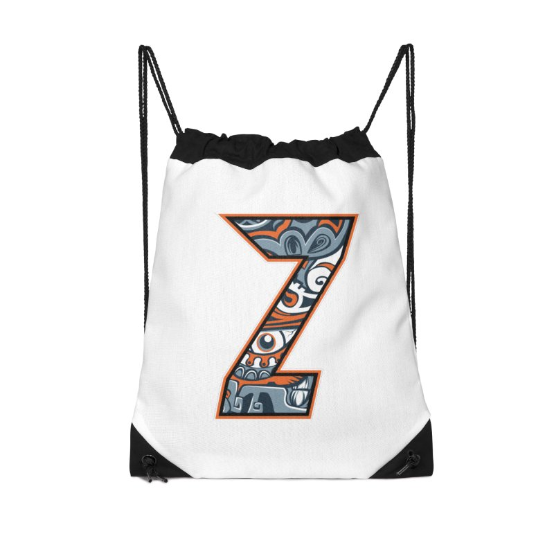 Crazy Face_Z002 Accessories Drawstring Bag Bag by Art of Yaky Artist Shop