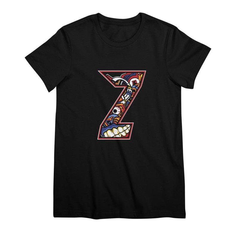 Crazy Face_Z003 Women's Premium T-Shirt by Art of Yaky Artist Shop