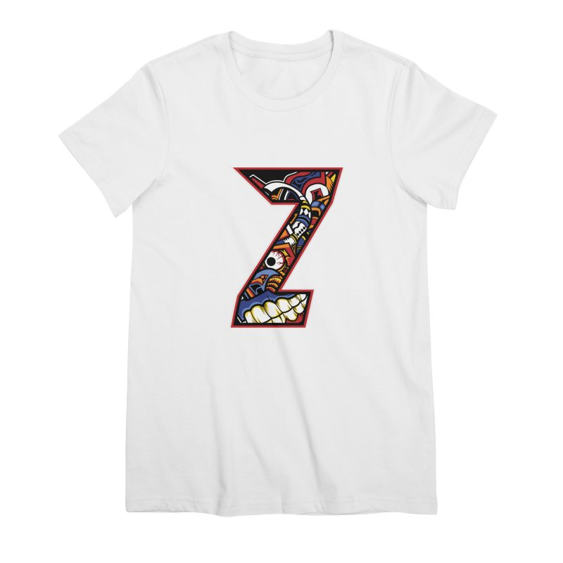 Crazy Face_Z003 Women's Premium T-Shirt by Art of Yaky Artist Shop