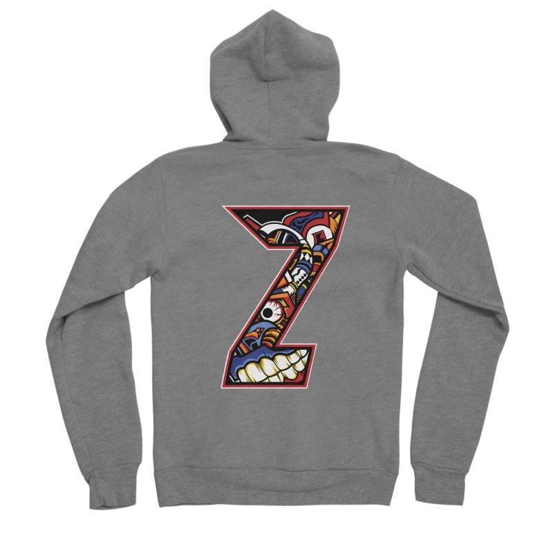 Crazy Face Alphabet (Z) Men's Zip-Up Hoody by Yaky's Customs