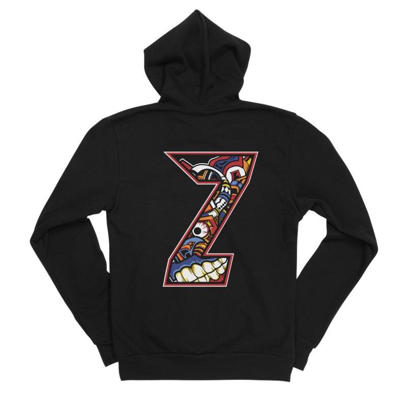 Crazy Face_Z003 Women's Sponge Fleece Zip-Up Hoody by Art of Yaky Artist Shop